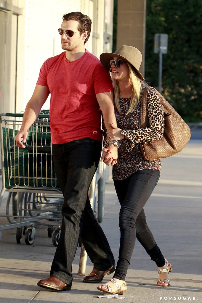Haley Cuoco held onto Henry Cavill at the grocery store in LA.