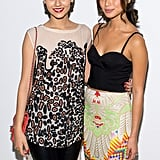 Victoria Justice and Jamie Chung caught up at Mara Hoffman's event.
