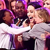 Zahara, Angelina, and Shiloh had a blast at the 2015 Kids' Choice Awards.