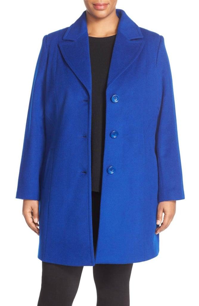 Kristen Blake Notch Collar Wool Blend Coat