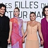 Louis Garrel, Saoirse Ronan, Greta Gerwig, Florence Pugh, Timothée Chalamet at Little Women Premiere