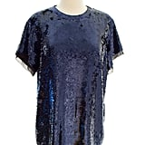 Proenza Schouler Midnight Blue Sequin Blouse ($490)