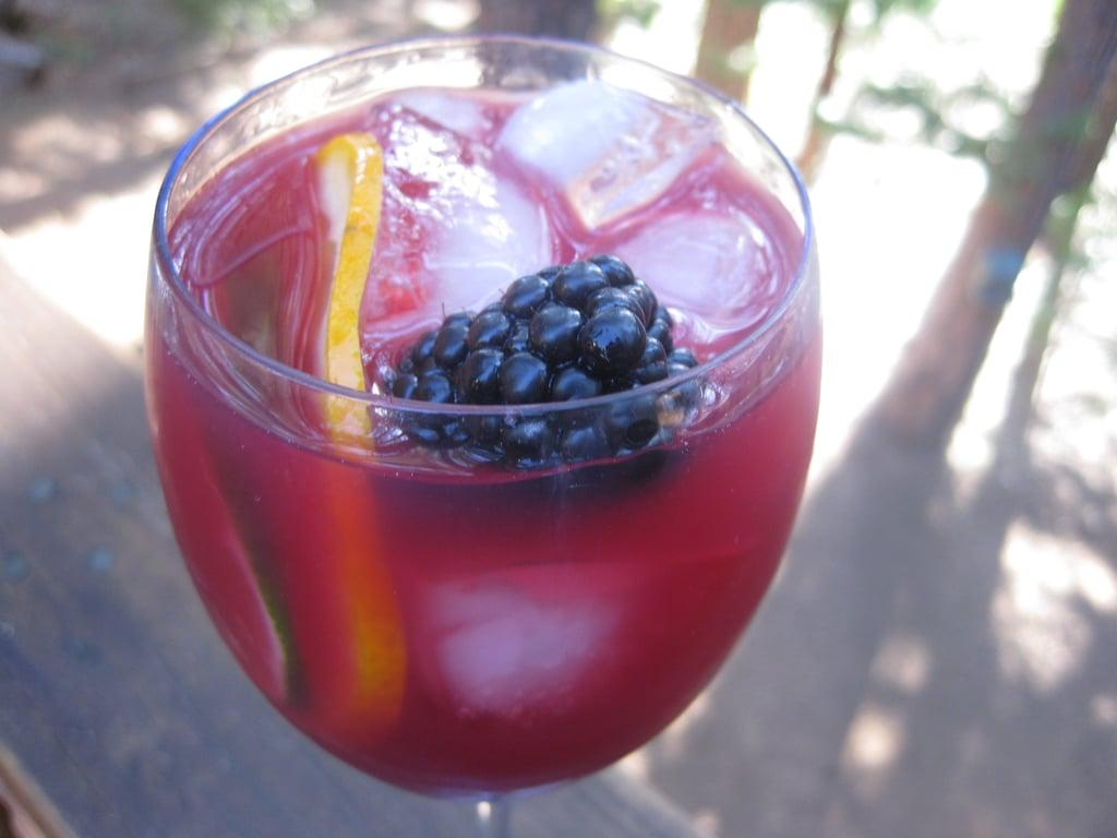 Blackberry and Cabernet Caipirinha