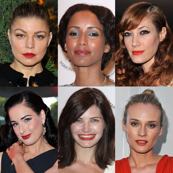 Stars in Red Lipstick at amfAR Inspiration Gala