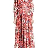 ba&sh Jasper Belted Floral Maxi Dress
