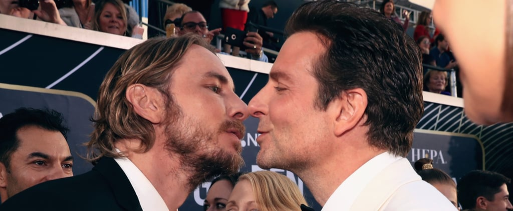 Bradley Cooper and Dax Shepard at the 2019 Golden Globes