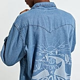 Wrangler X Lil Nas X Denim Western Button-Down Shirt