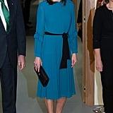 Queen Letizia's Blue Zara Jumpsuit January 2019