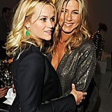 Jennifer Aniston and Reese Witherspoon enjoyed each other's company at an event in LA.