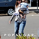 Jennifer Garner brought Samuel to Baskin-Robbins.