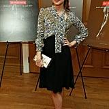 Alicia wore Louis Vuitton to the New York premiere of Ex Machina.