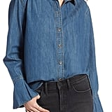 Treasure & Bond Pleated Cuff Chambray Shirt
