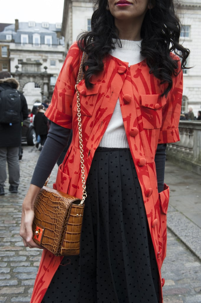 What pairs better with a ladylike coat than a ladylike bag?