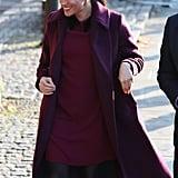 Meghan Markle's Burgundy Dress November 2018