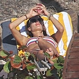 Alessandra Ambrosio soaked up the sun Wednesday in St. Barts.
