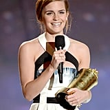Emma Watson flashed a smile when she accepted the 2013 Trailblazer Award.