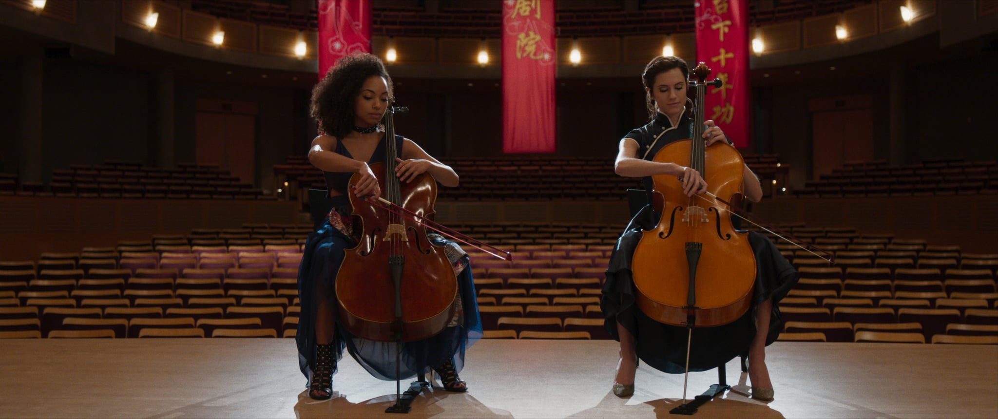 Whoa — Allison Williams and Logan Browning Actually Learned to Play the Cello For The Perfection