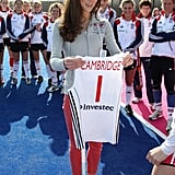 The Duchess of Cambridge received her own jersey.