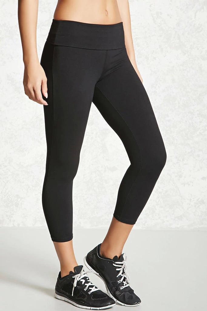 3d46242d9d Forever 21 Active Foldover Capri Leggings | Cheap Workout Pants ...