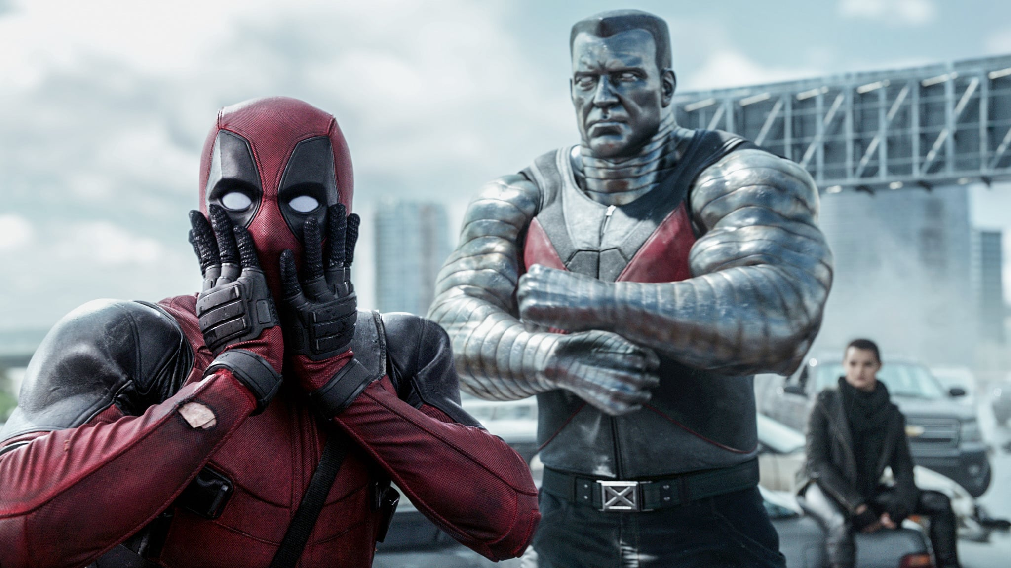 DEADPOOL, from left: Ryan Reynolds, as Deadpool, Colossus (voice: Stefan Kapicic), Brianna Hildebrand, 2016. / TM &  Twentieth Century Fox Film Corporation. All rights reserved. /Courtesy Everett Collection