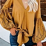 Asvivid Balloon Sleeve Top