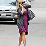 Reese Witherspoon crossed the street while out and about in Brentwood.