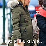Claire Danes carried a snack while out in NYC.