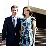 Frederik and Mary posed on the steps of the Sydney Opera House in Oct. 2013 ahead of celebrating the iconic building's 40th anniversary.