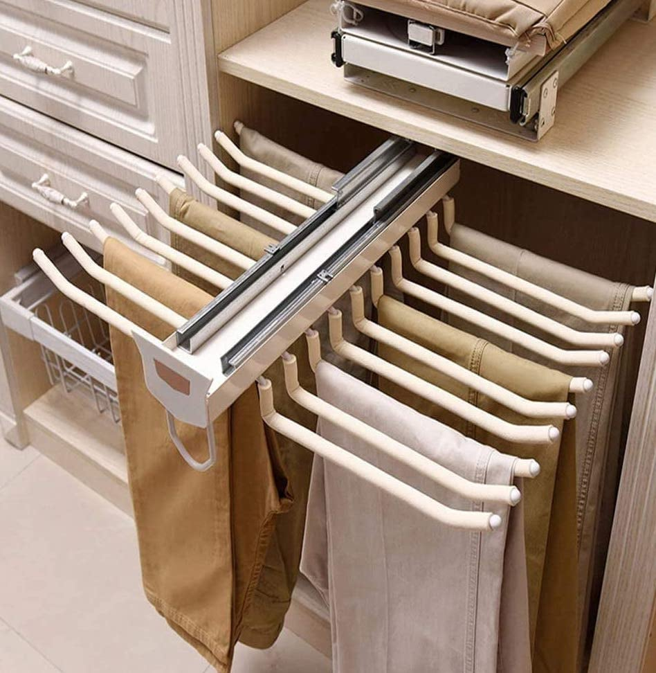 The Perfect Pants Hanger: Pull Out Trousers Rack