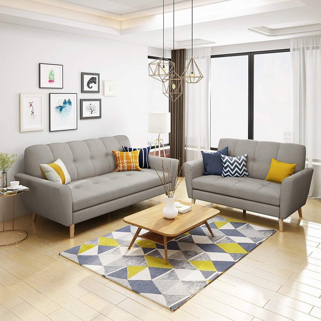 Christopher Knight Home Angelina Mid Century Fabric Sofa Set | Best ...