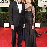 Bryan Cranston and wife Robin Dearden pose on the red carpet.