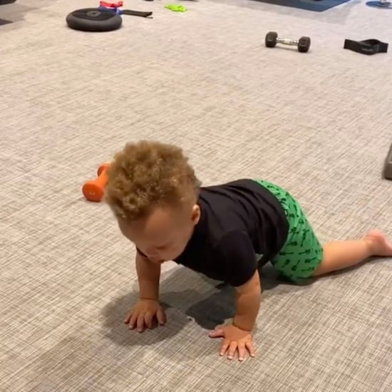 Steph Curry's Baby Boy Canon Does Push-Ups | Video