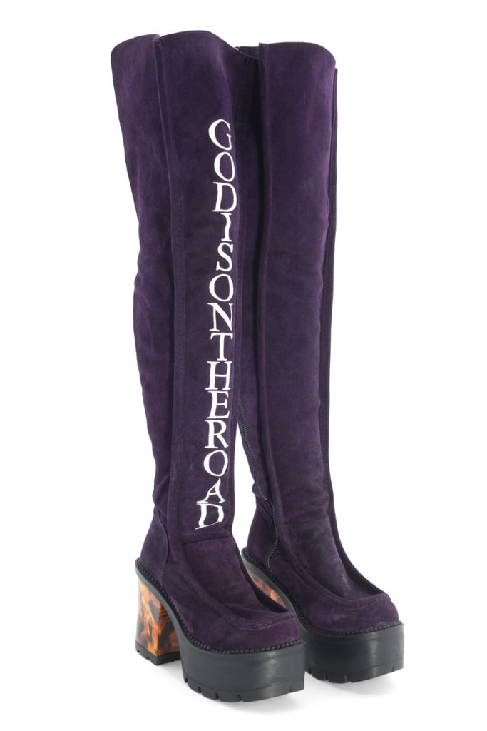 Mariake Fisherman God Is on the Road Thigh-High Boots ($468)