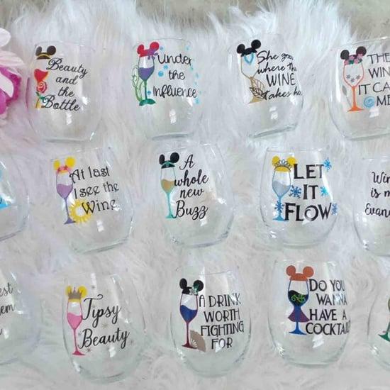 Disney Princess Stemless Wine Glasses
