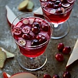 Fizzy Cranberry, Ginger, and Pear Cocktail