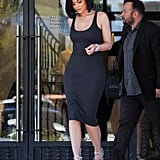 Kylie Jenner Wearing an Enza Costa Ribbed Tank Dress