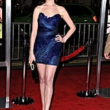 A feathery Marchesa dress was Anne's choice for the 2010 premiere of Valentine's Day in LA.