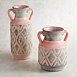 Pink and Gray Tribal Vases
