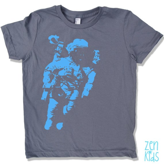 The hand-screen-printed Astronauts Tee ($16) comes in adult and infant sizes.