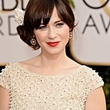 Zooey Deschanel Dazzles at the Golden Globes