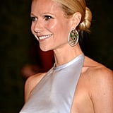 Gwyneth Paltrow smiled on the red carpet at the Met Gala.