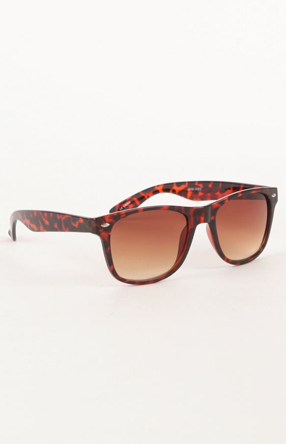 Try your Wayfarers with a print, like this tortoiseshell pair from With Love From CA ($15).