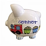 Personalized Choo-choo Train Piggy Bank with Handpainted Name