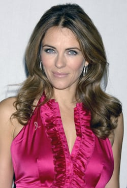 2008 October Breast Cancer Awareness Month. Estee Lauder Pink Ribbon Collection with Elizabeth Hurley