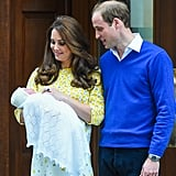 William had the look of love down staring at his newborn daughter, Charlotte, in 2015.
