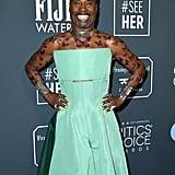 Billy Porter's Green Dress at the Critics' Choice Awards
