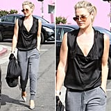Ali Larter shows us how to mix comfort and style.