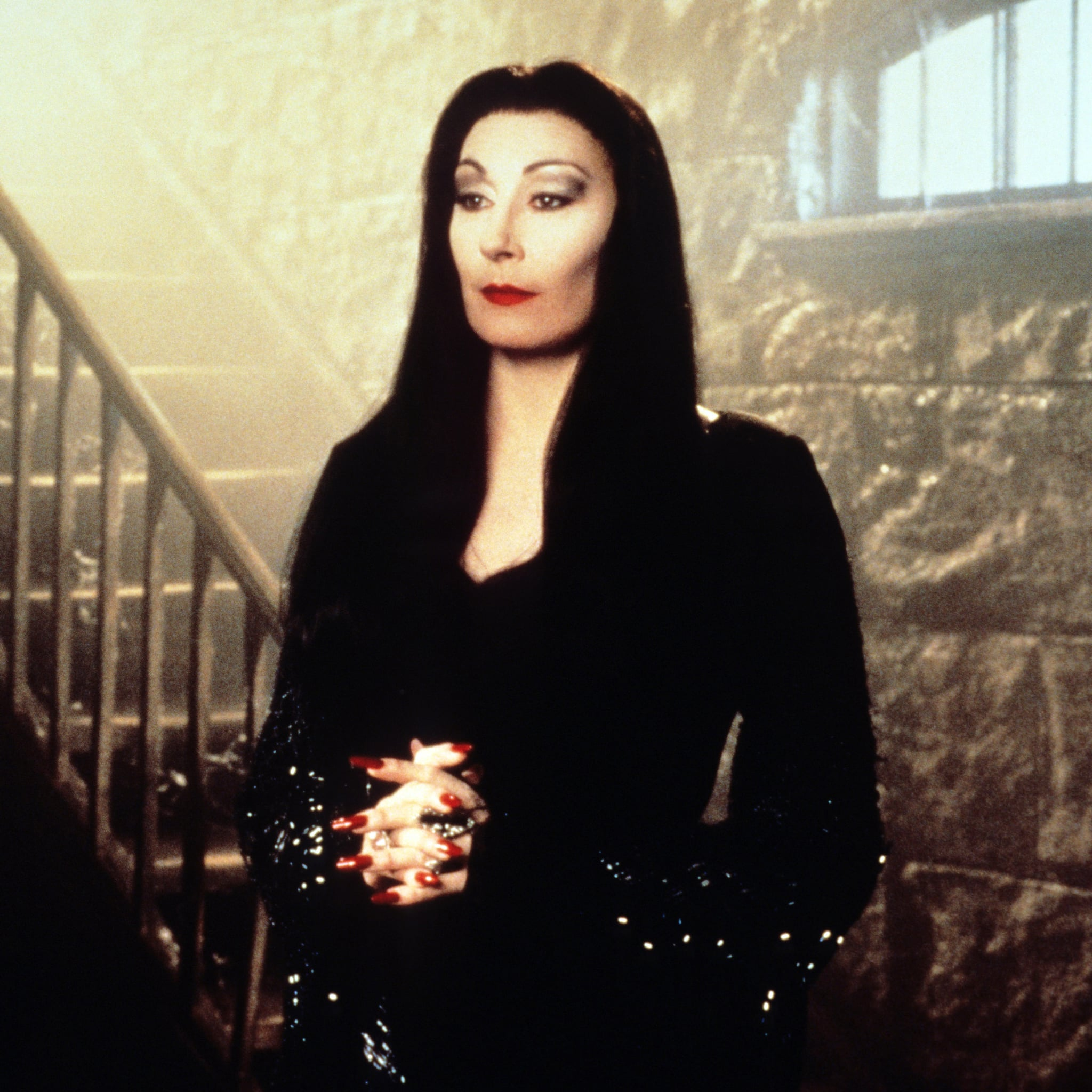 On light eyes addams morticia family Here's What
