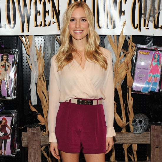 Kristin Cavallari Wearing Berry Shorts