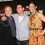 Tom Cruise and Paula Patton posed with Brad Bird in Rio de Janeiro.